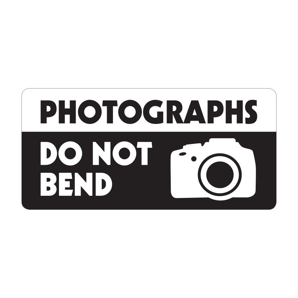 Photographs Do Not Bend - Pre Designed Labels