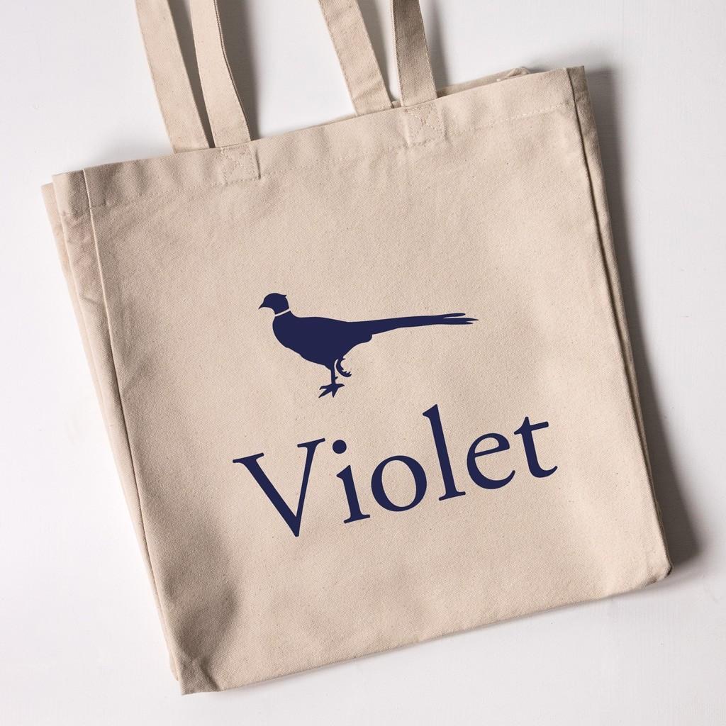 Personalised Tote Bag - Pheasant