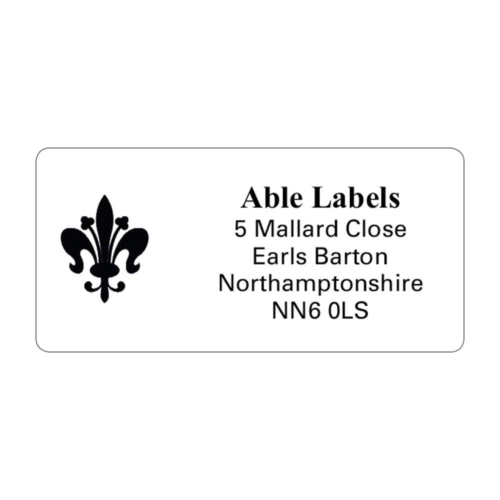 White Picture Cut Labels