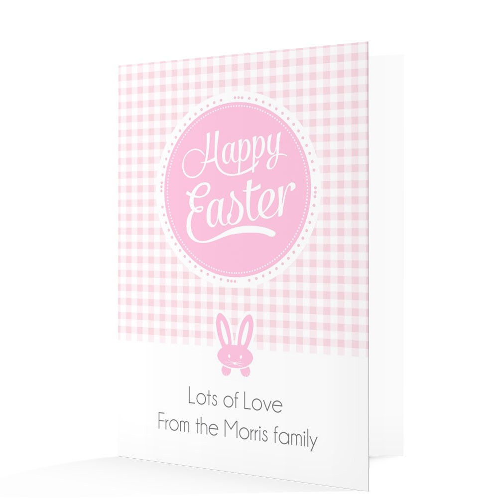 Pink Happy Easter Card
