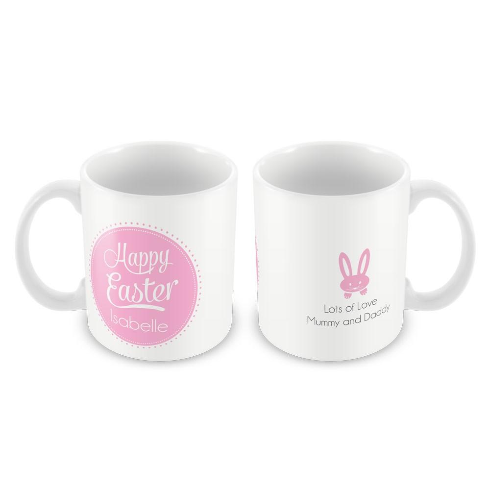 Pink Happy Easter Mug