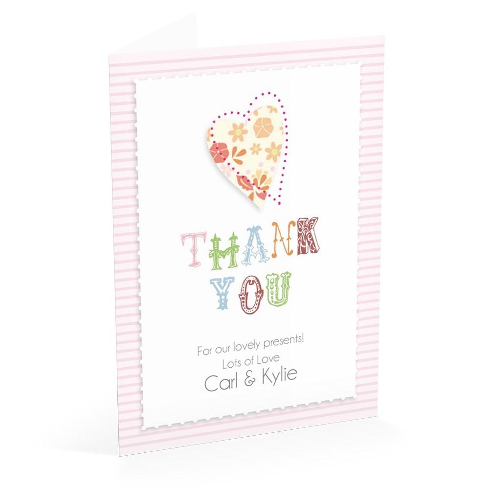 Pink Stripe - Thank You Card