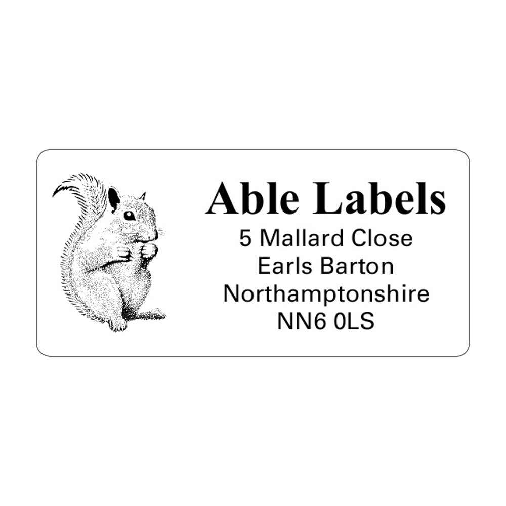 Clear Picture Cut Address Labels