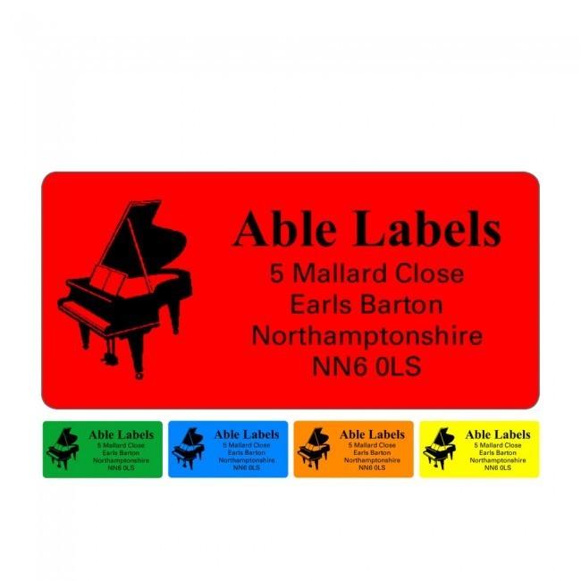 Picture Labels On Colour A4 Sheets
