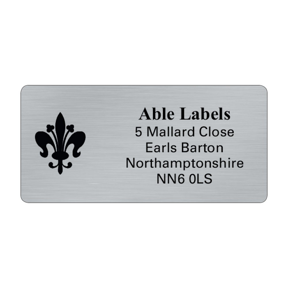 Silver Picture Cut Address Labels