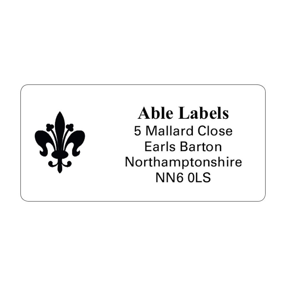 White Picture Cut Labels