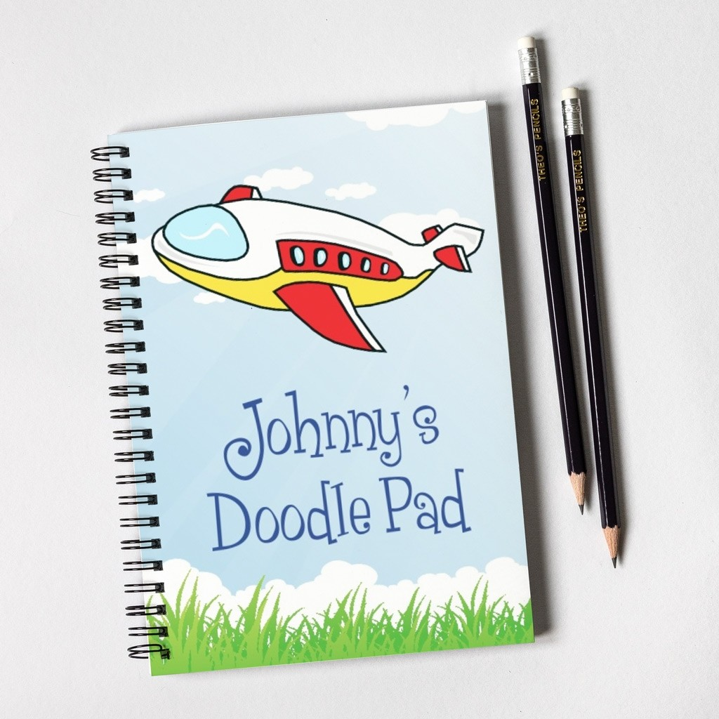 Aeroplane Notebook & Pencil Gift Set