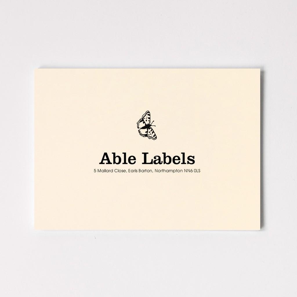 Premium Centred Serif & Motif Correspondence Cards