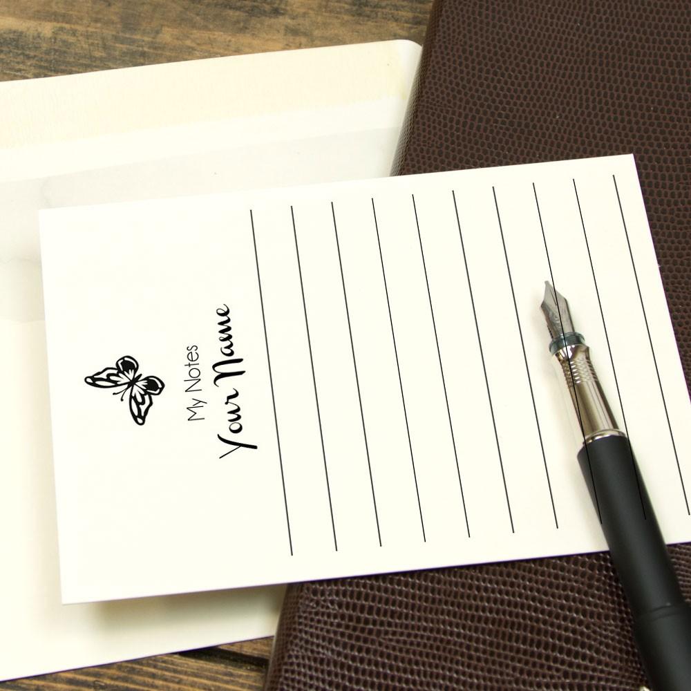 Premium Portrait Ruled Correspondence Cards