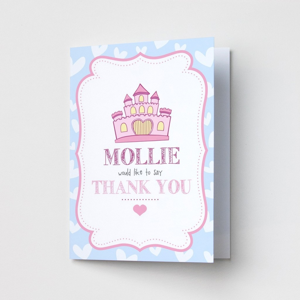 Children's Princess Castle - Thank You Cards