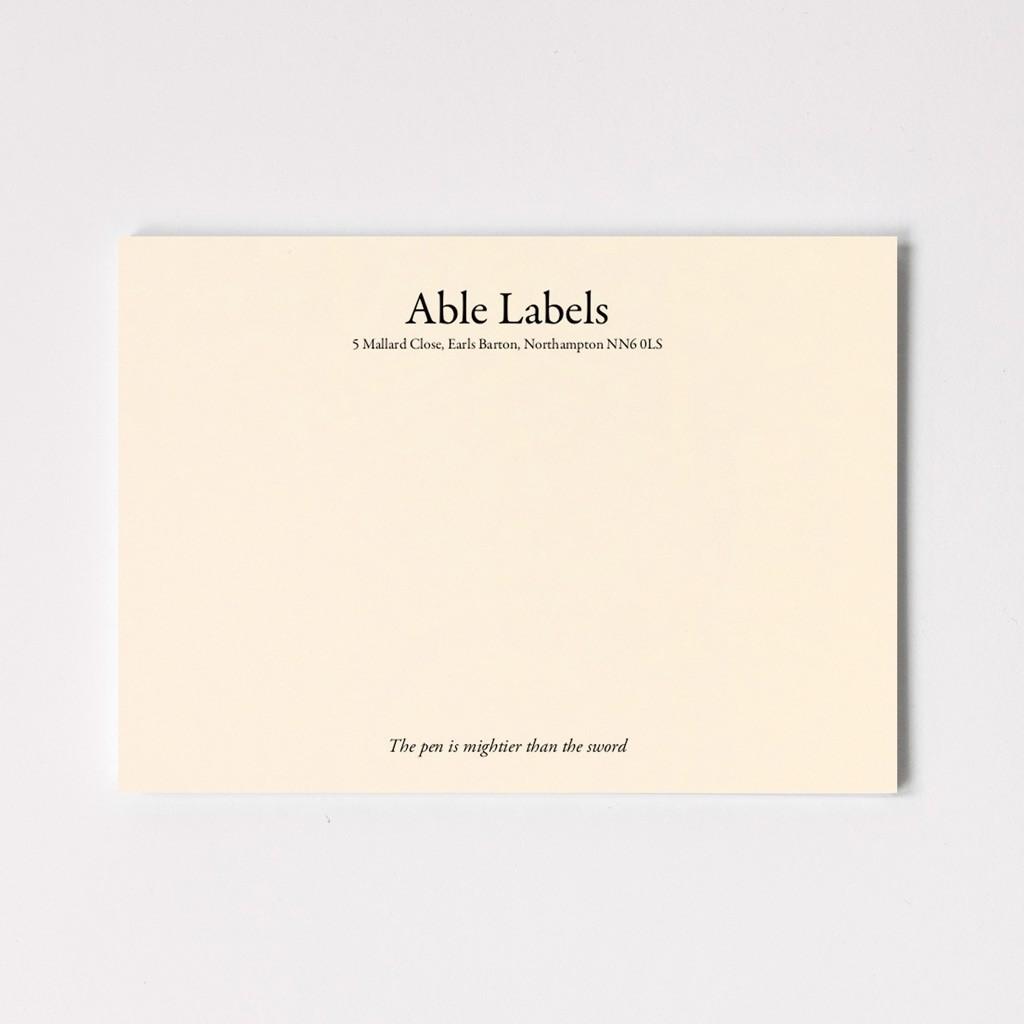 Premium Traditional Serif Correspondence Cards