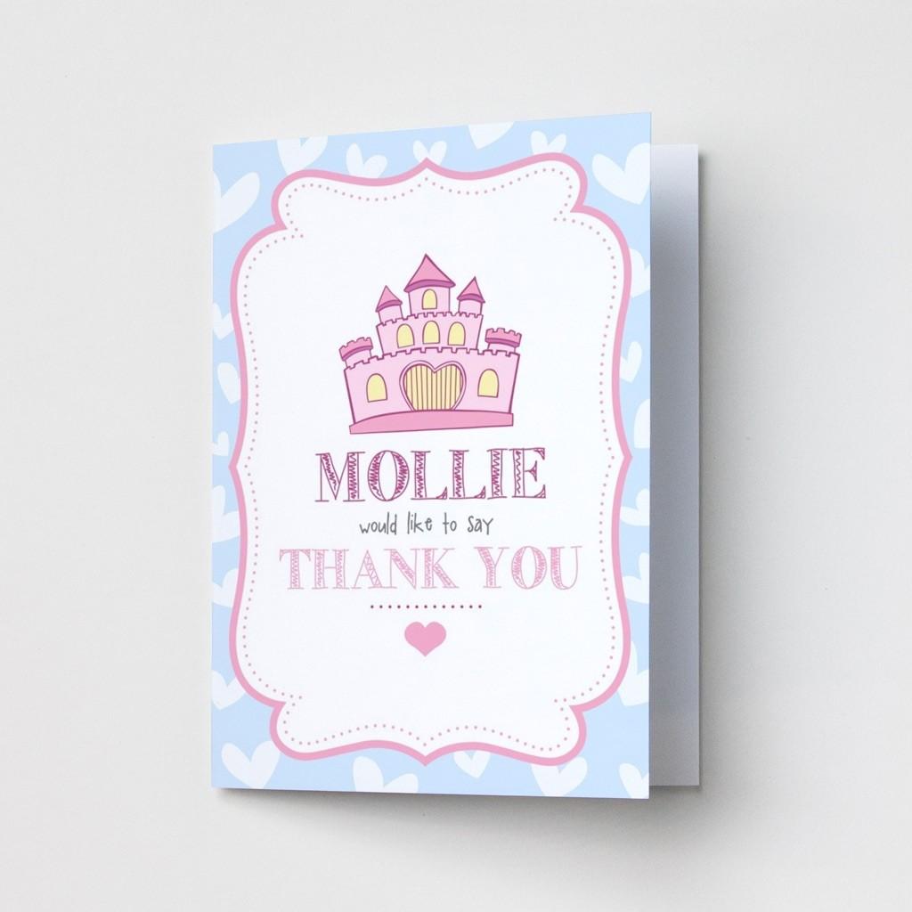 Children's Princess Castle - Thank You Cards