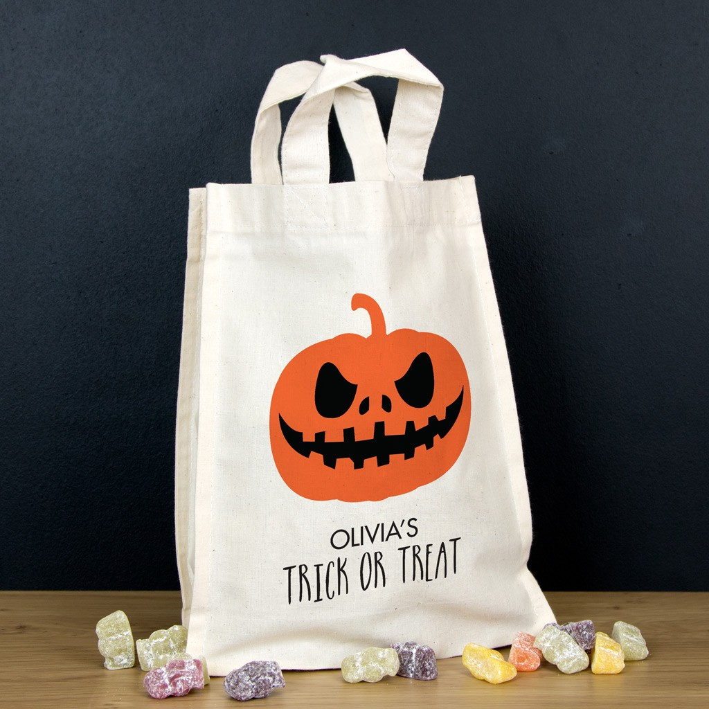 Personalised Halloween Trick or Treat Bag - Pumpkin