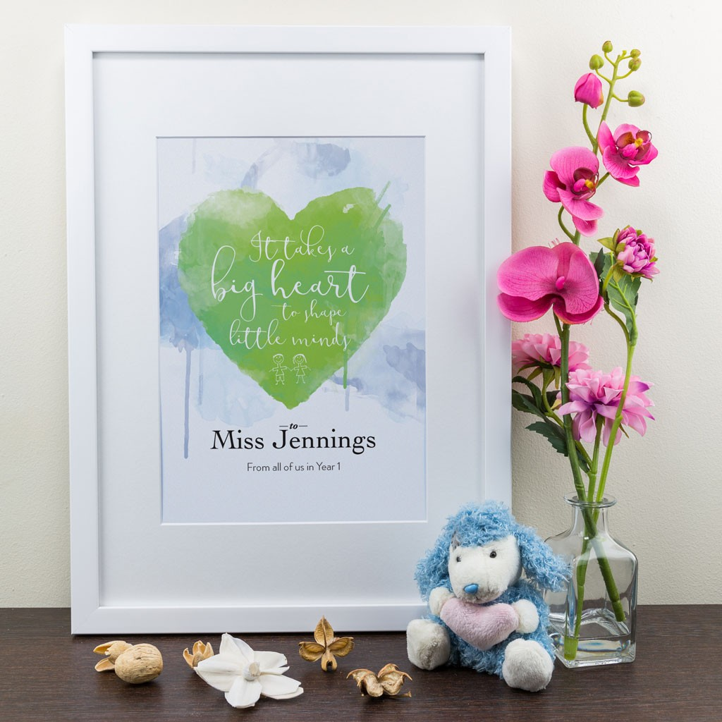 Big Heart - Personalised Art Print
