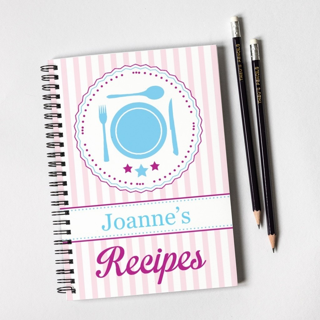 Recipes Notebook Gift Set