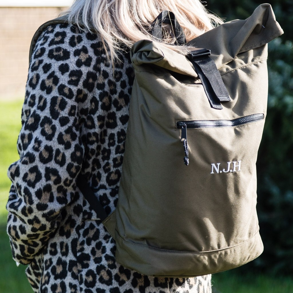 Personalised Embroidered Recycled Backpack
