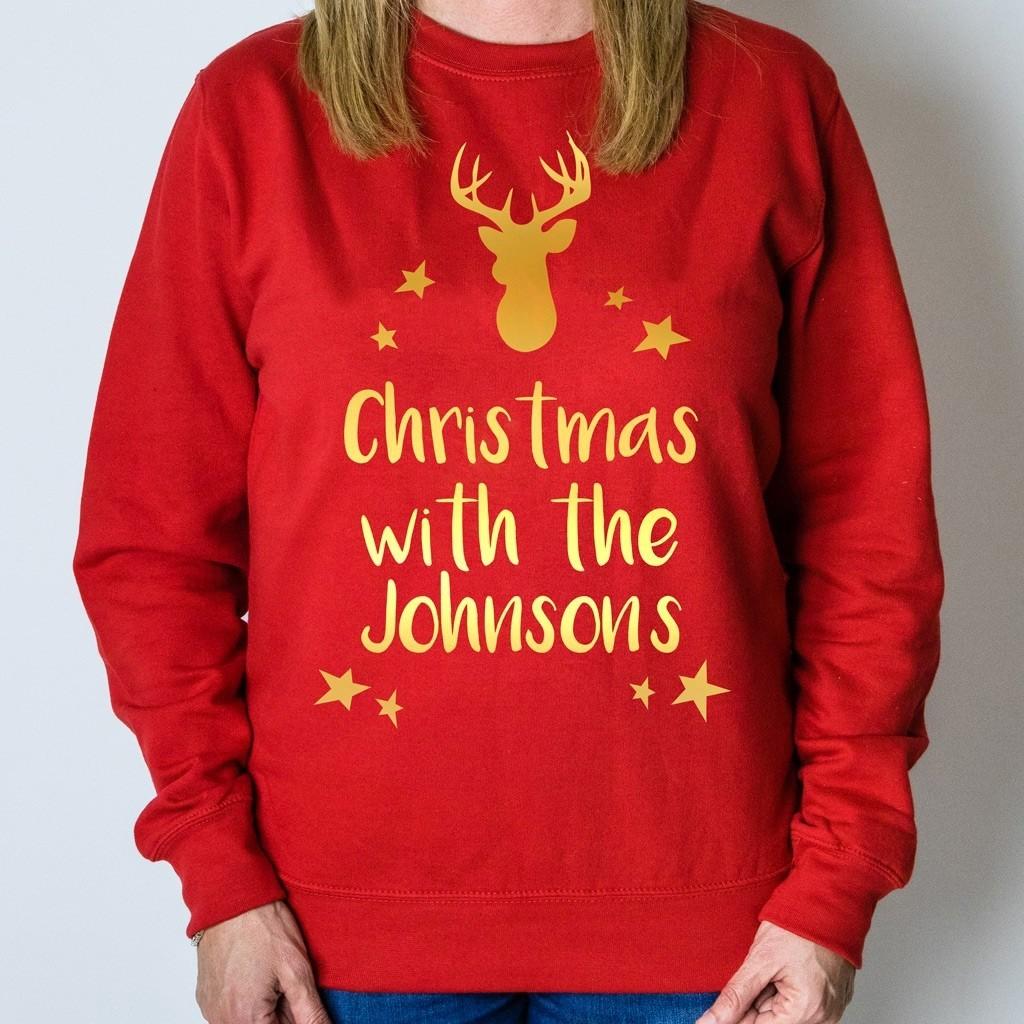 Personalised Christmas Jumper - Reindeer