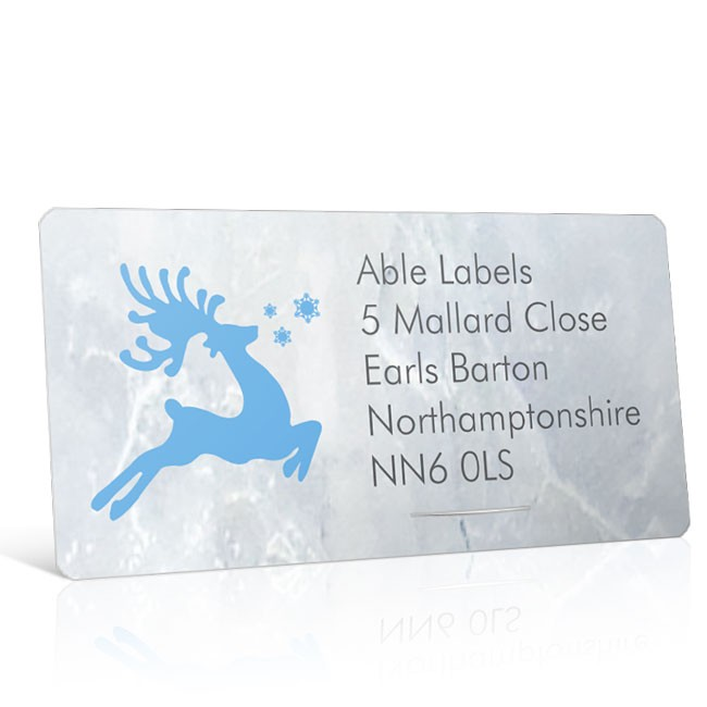 Christmas A4 Sheet Labels - Reindeer Silhouette