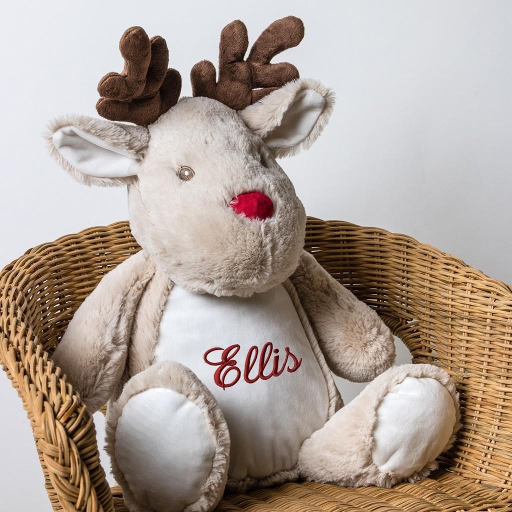 Personalised Soft Toy Reindeer