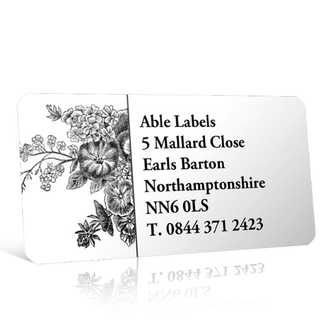 Pre Designed Ornate Address Label on A4 Sheets