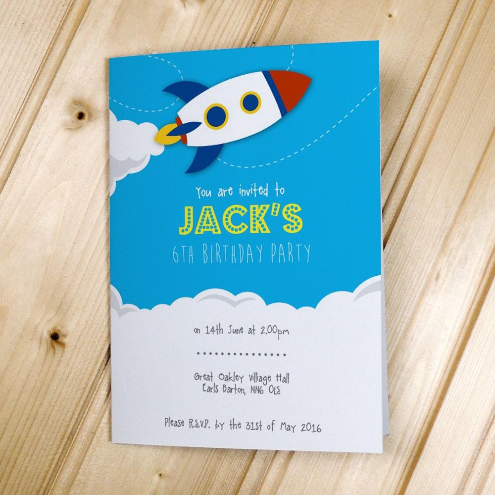 Rocket - Party Invitations