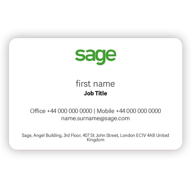 Ireland Sage Standard Business Card