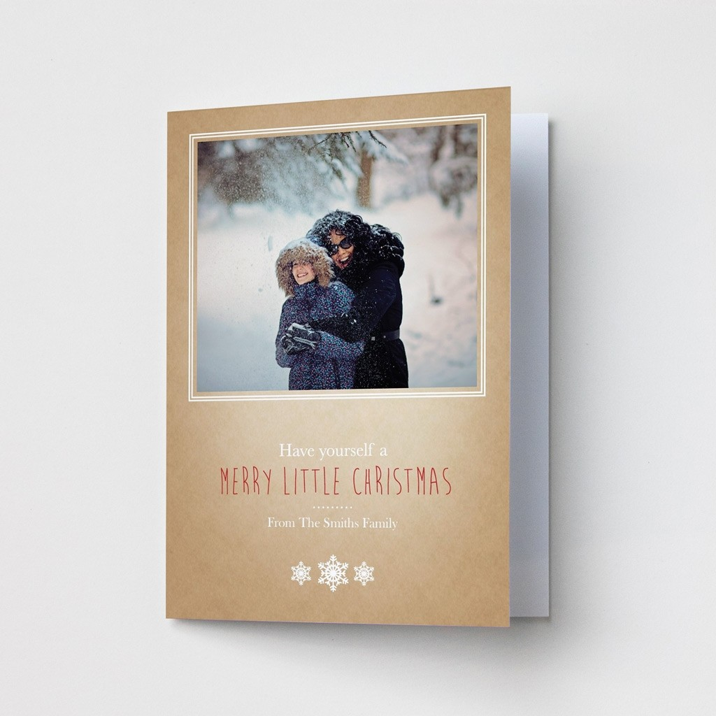 Premium Christmas Cards - Snowflake Photo Upload