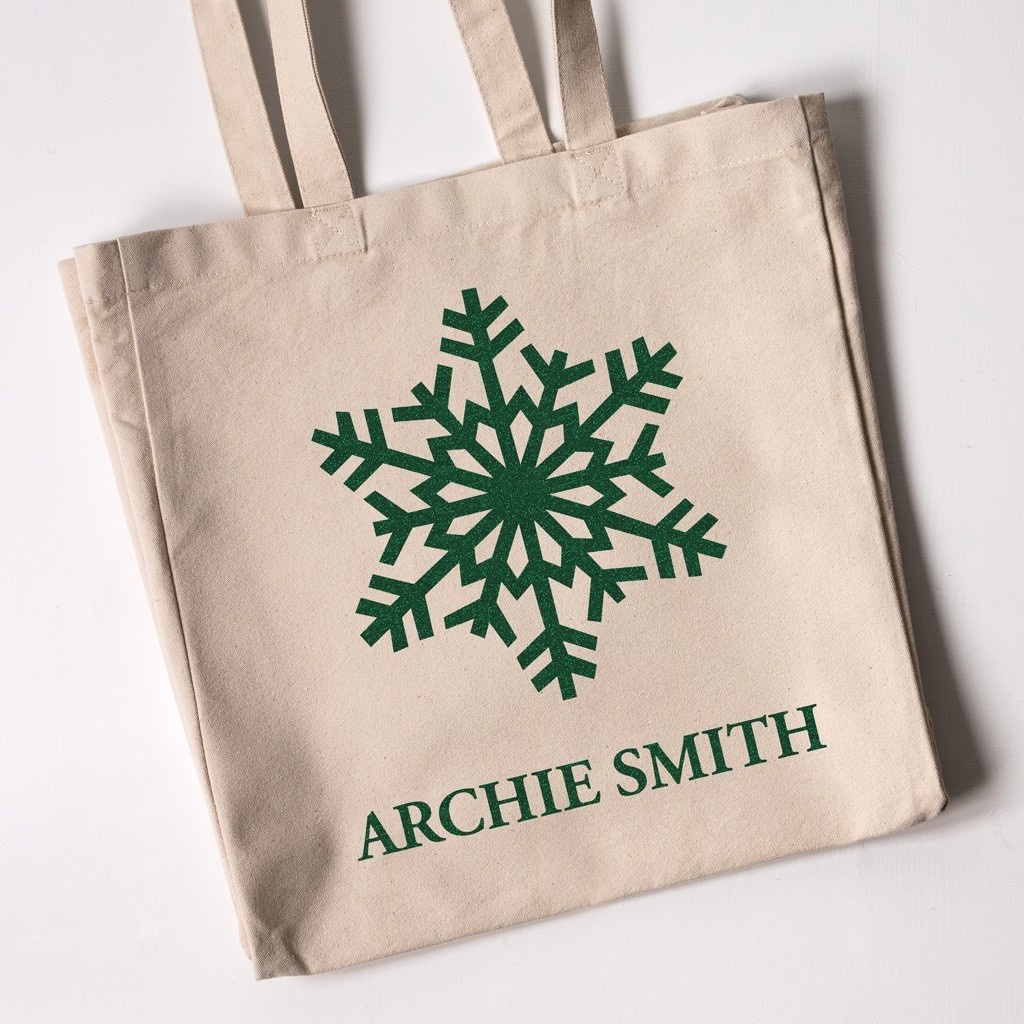 Snowflake - Christmas Personalised Tote Bag