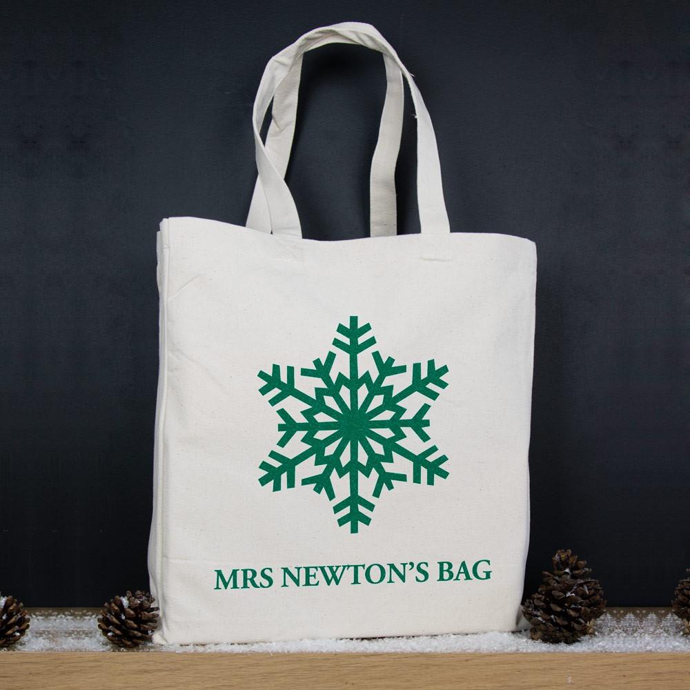 Snowflake - Christmas Personalised Tote Bag