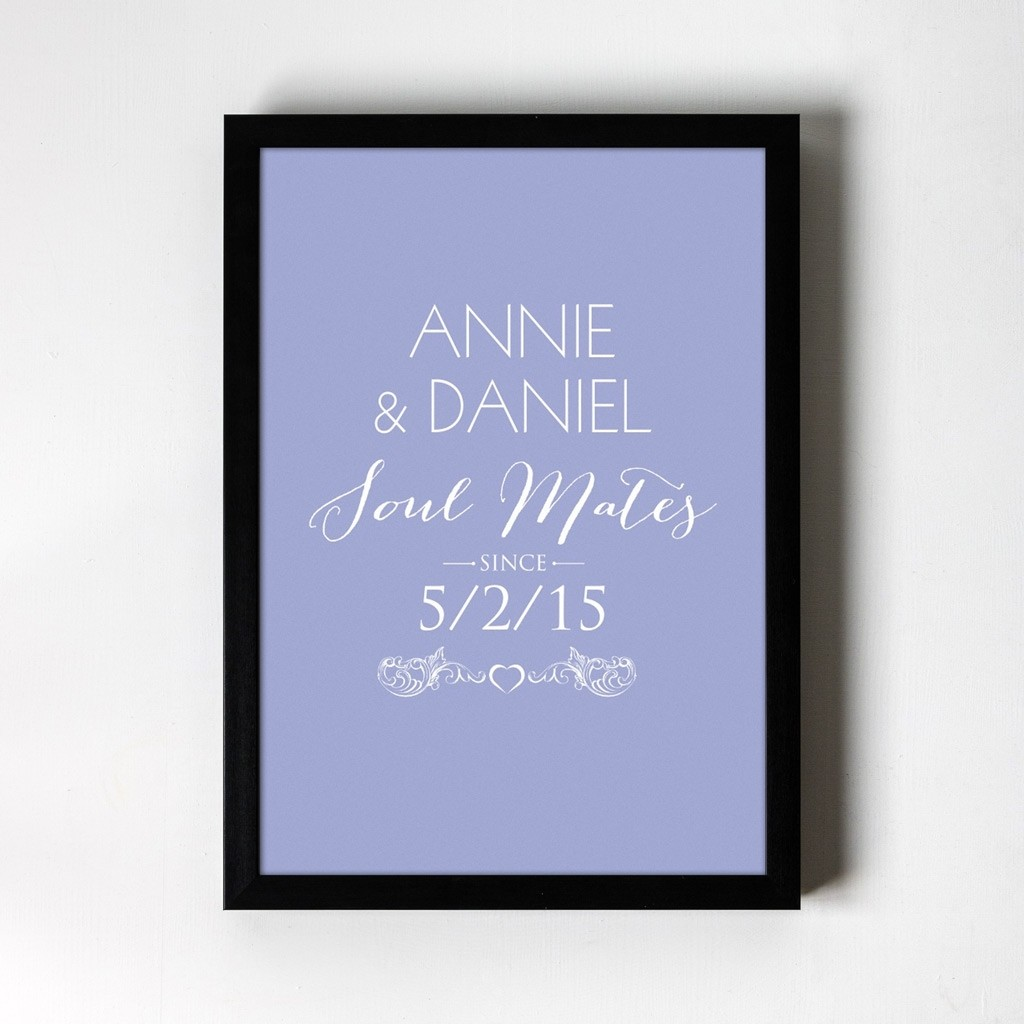 Soul Mates Personalised Art Print