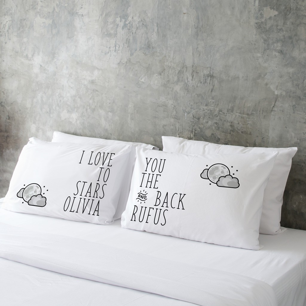 Valentine's Day Pillow Case (Pair) - To the Stars and Back