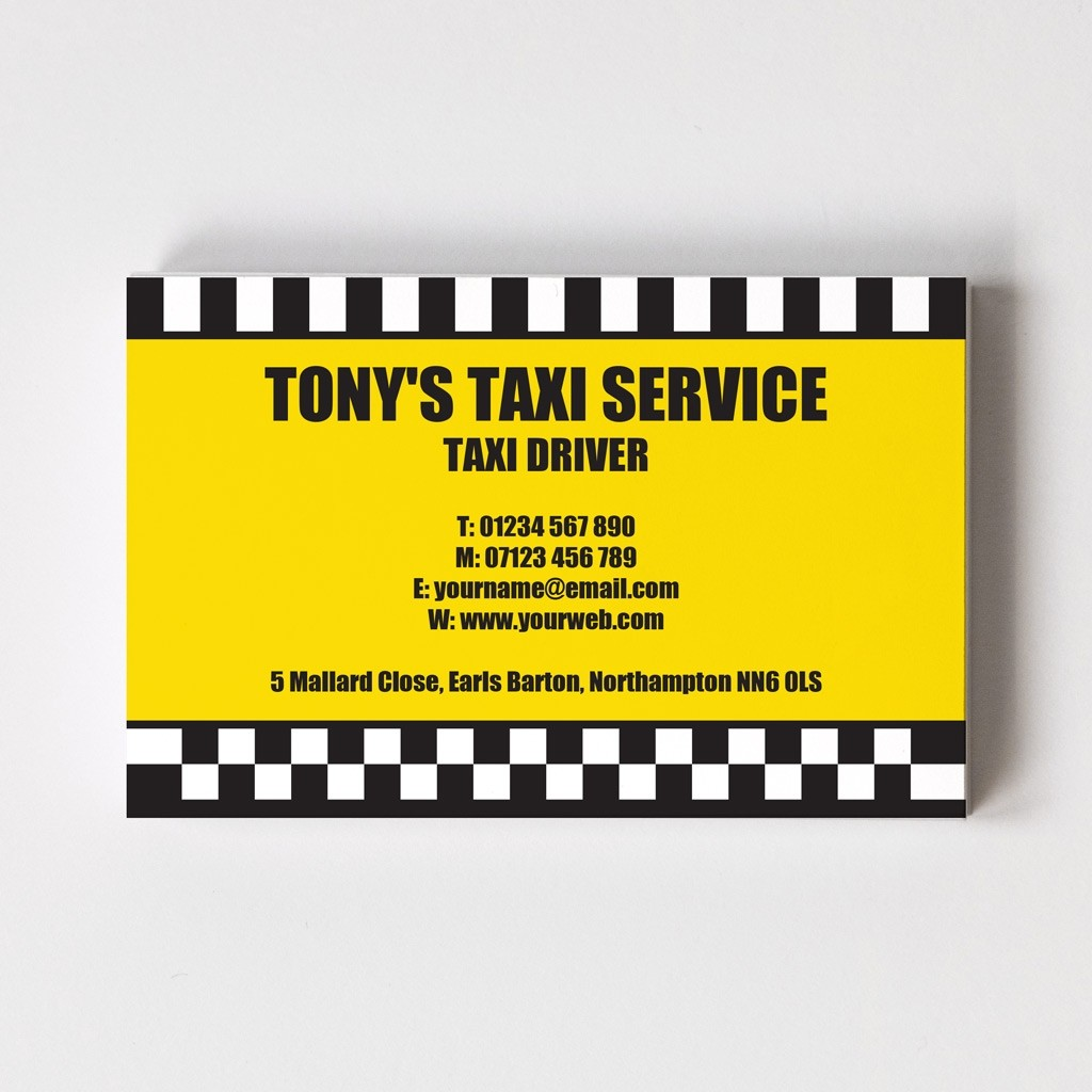 Templated Business Card Taxi Driver 2