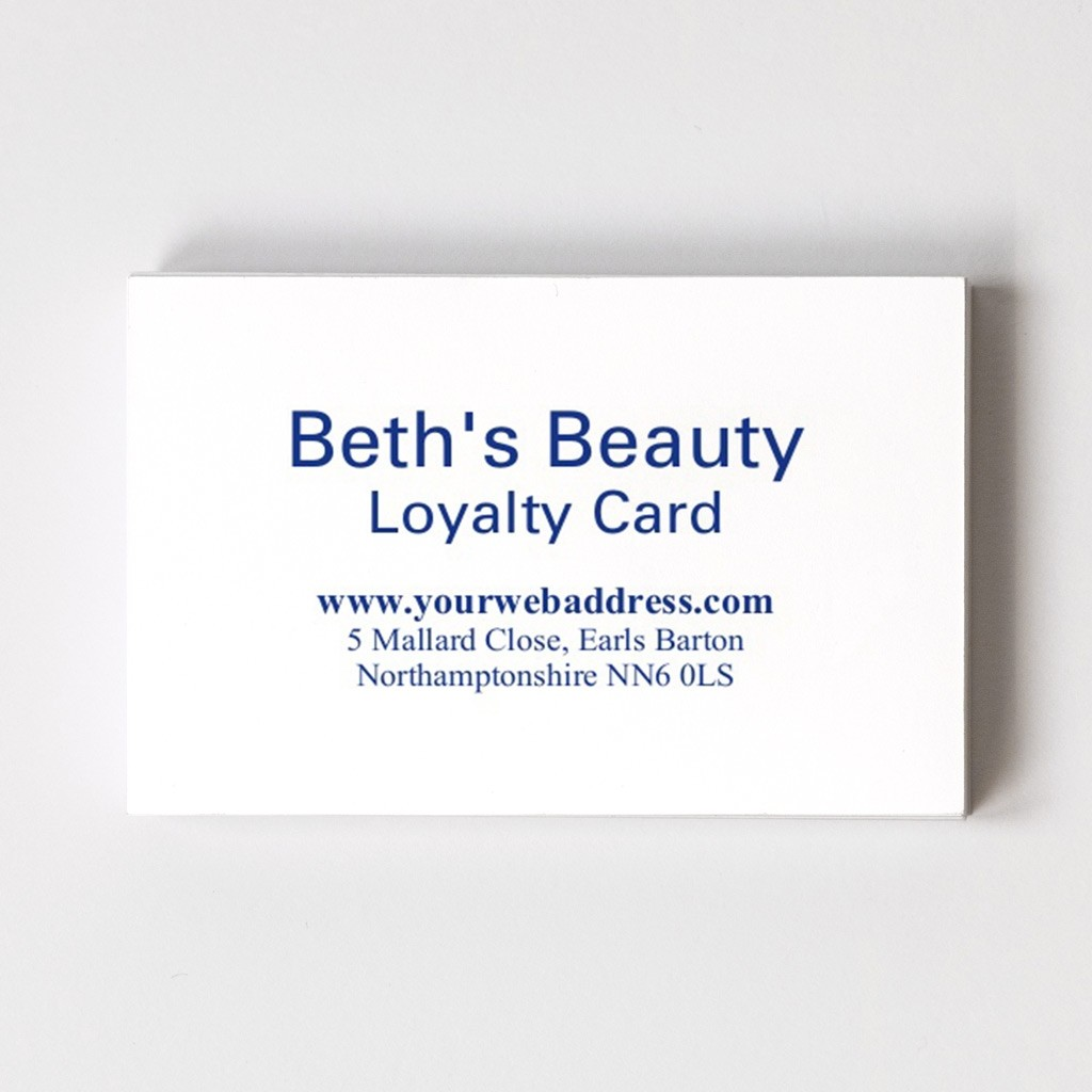 Loyalty Card Front