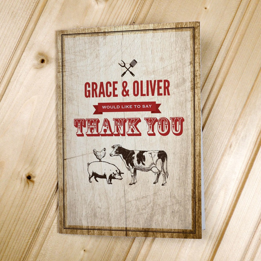 BBQ - Thank You Cards