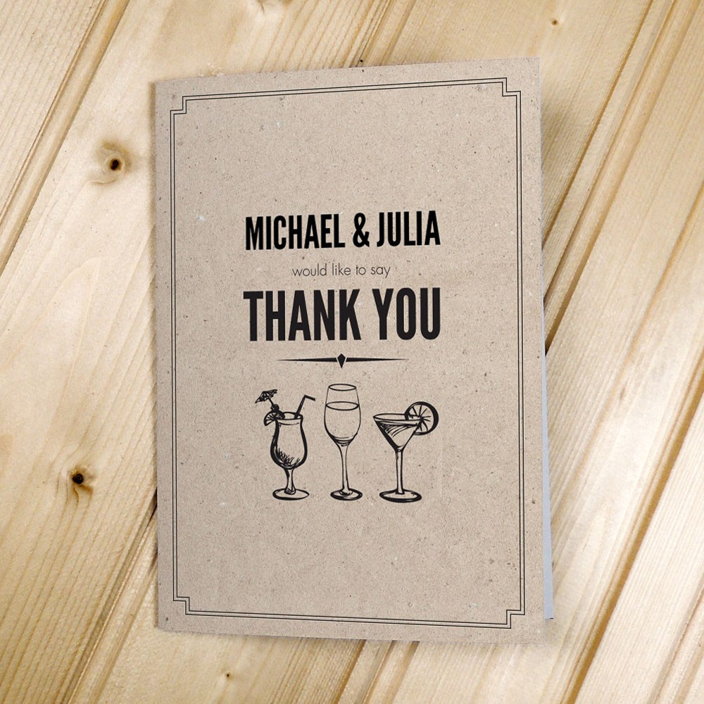 Classic Border Textured - Thank You Cards