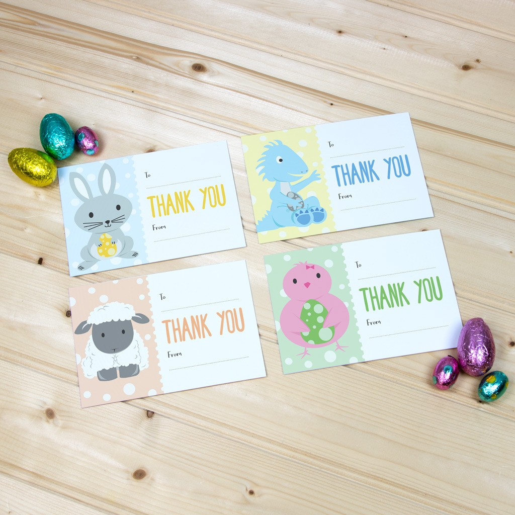 Easter A6 Thank You Card Pack with Envelopes