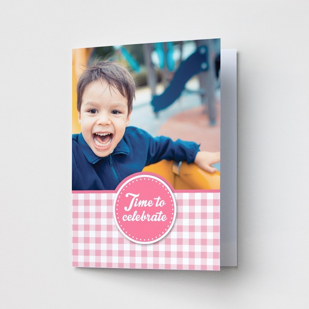 Pink Gingham - Party Invitations