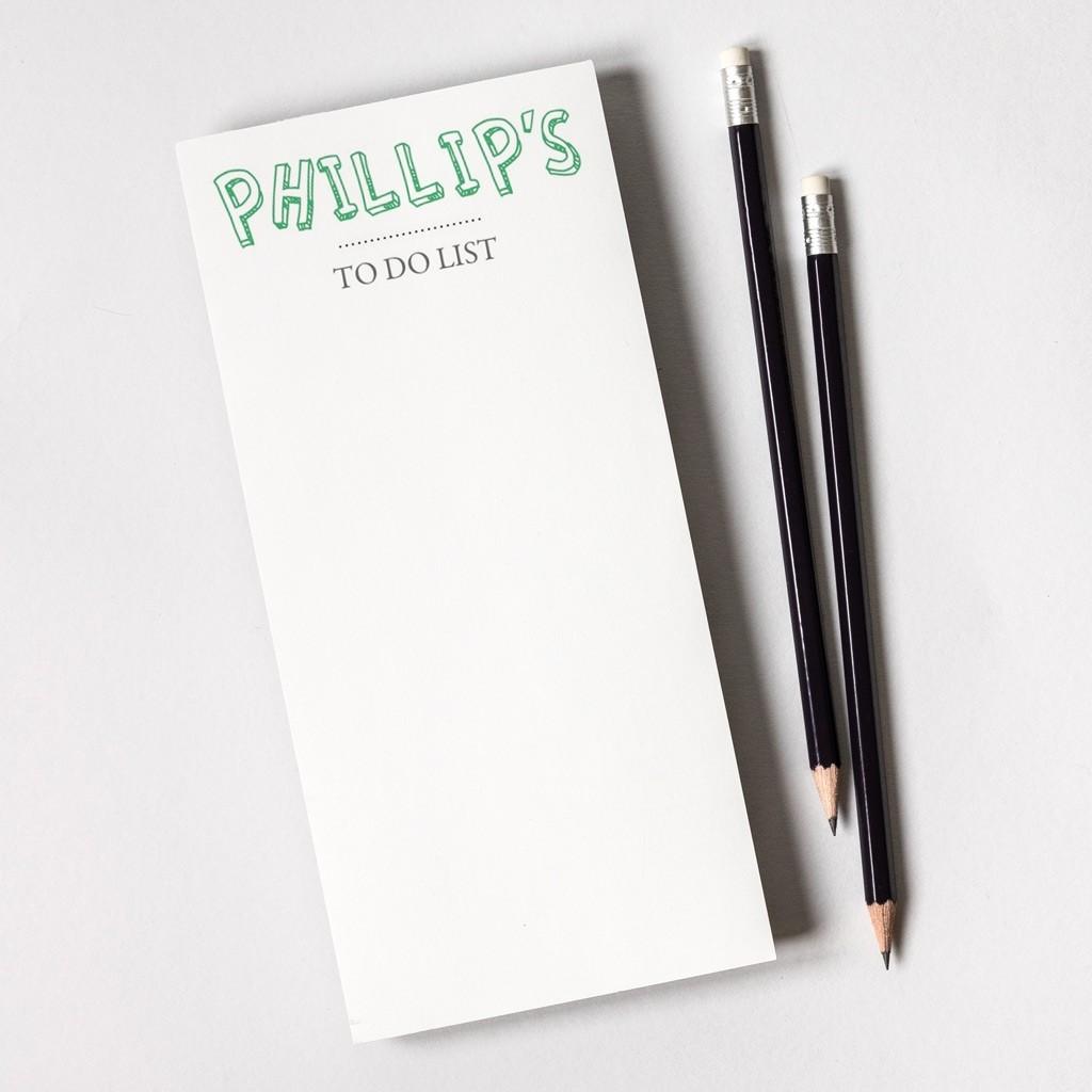 Tear Off Notepad and Plain Pencils - Cartoon Text