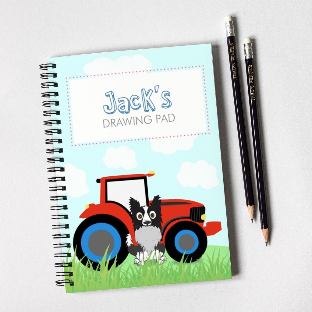 Farm Dog Notebook & Pencil Gift Set