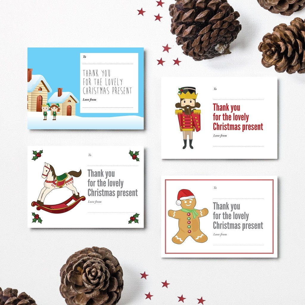 Christmas Thank You Cards - 2016 Designs