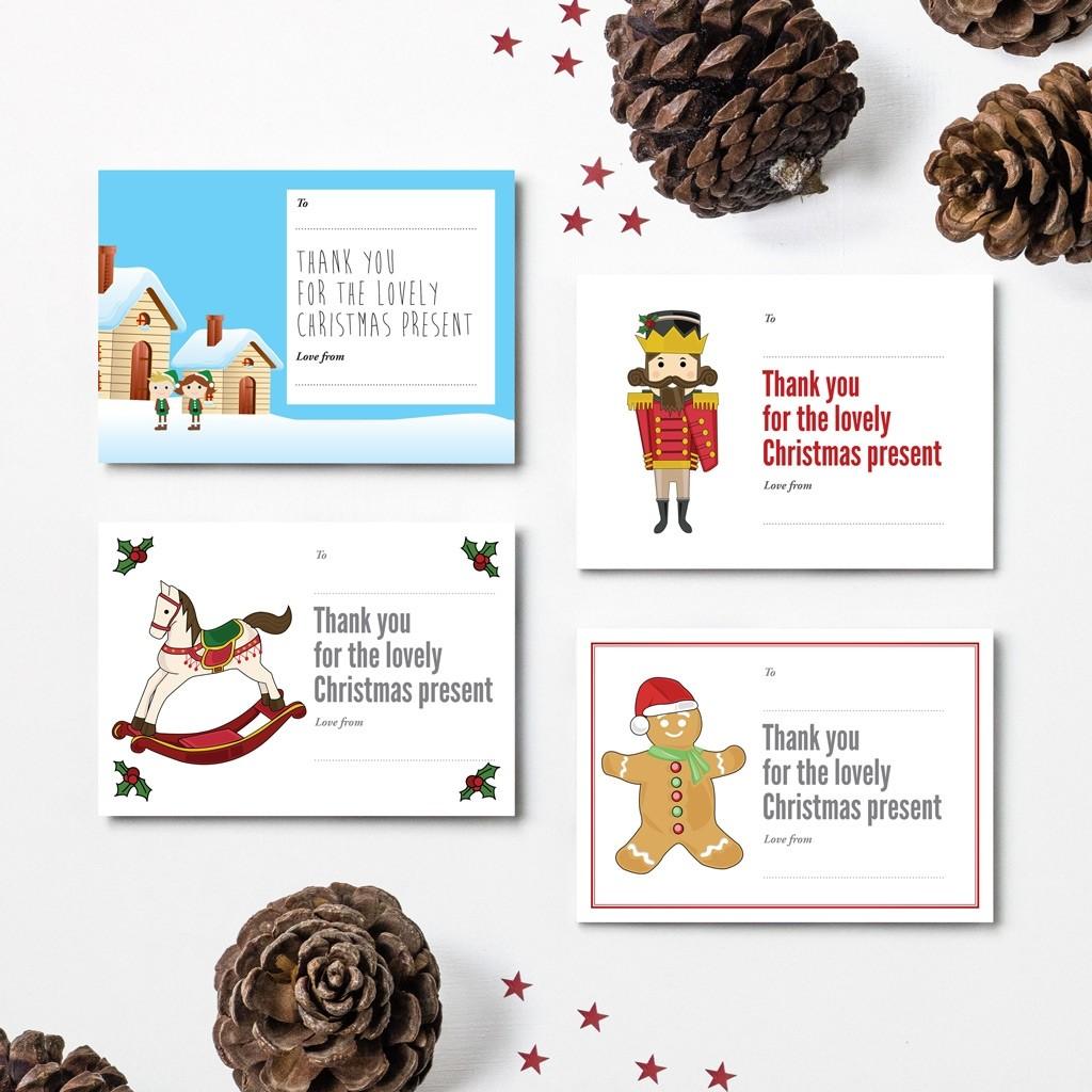 Christmas Thank You Cards - Design 2