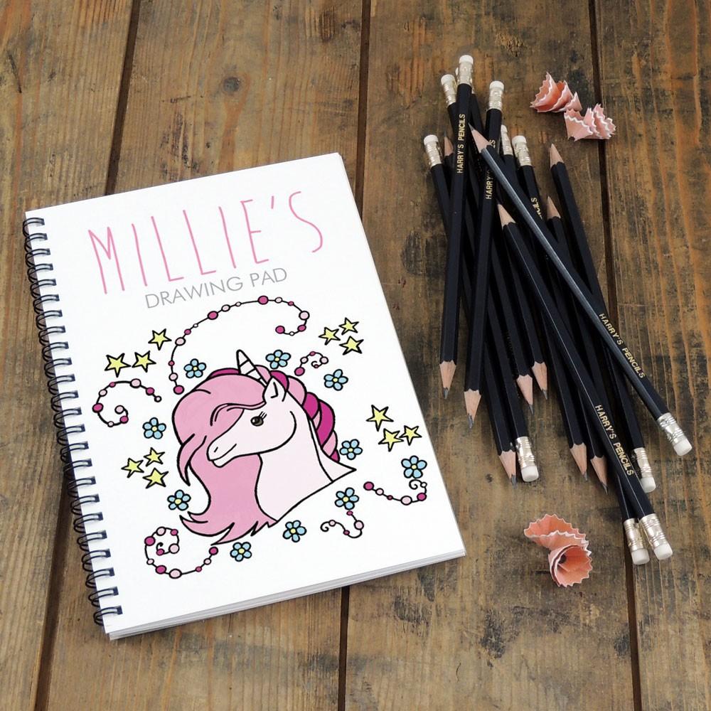 Unicorn Notebook & Pencil Gift Set