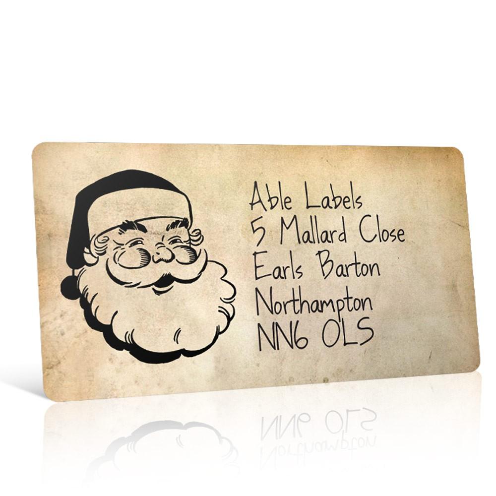Christmas A4 Sheet Labels - Vintage Santa