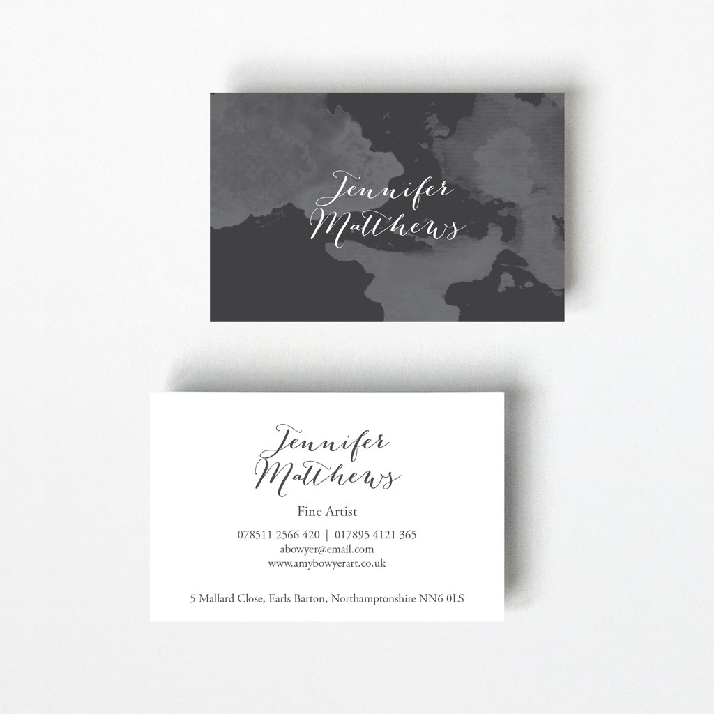 Watercolour Design Business Card