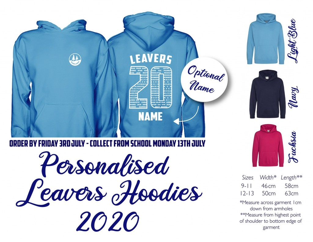 Parklands Primary School - Leavers Hoodie 2020
