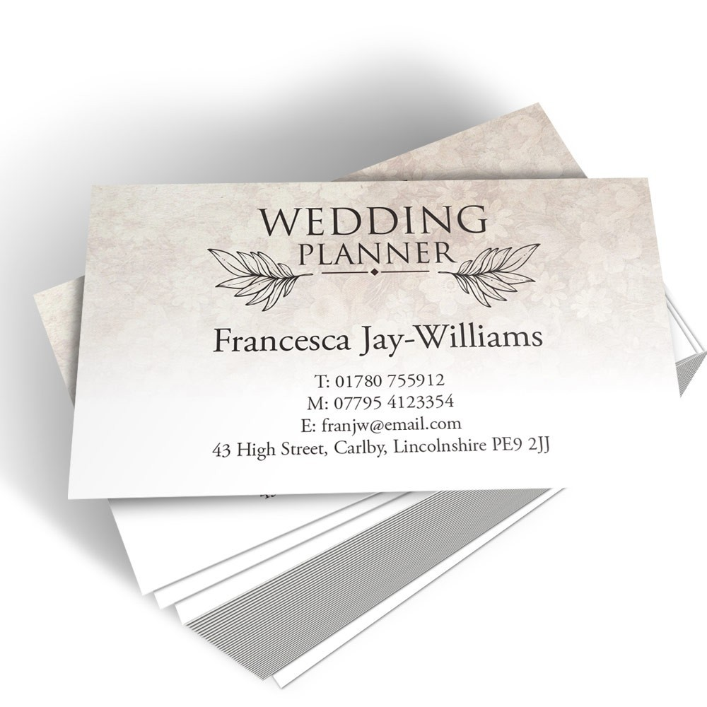 Templated Business Card Wedding Planner 1