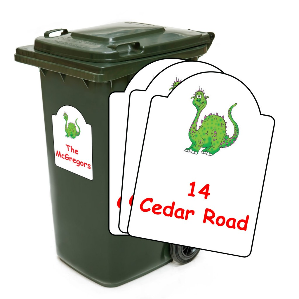 Wheelie Bin Label Set