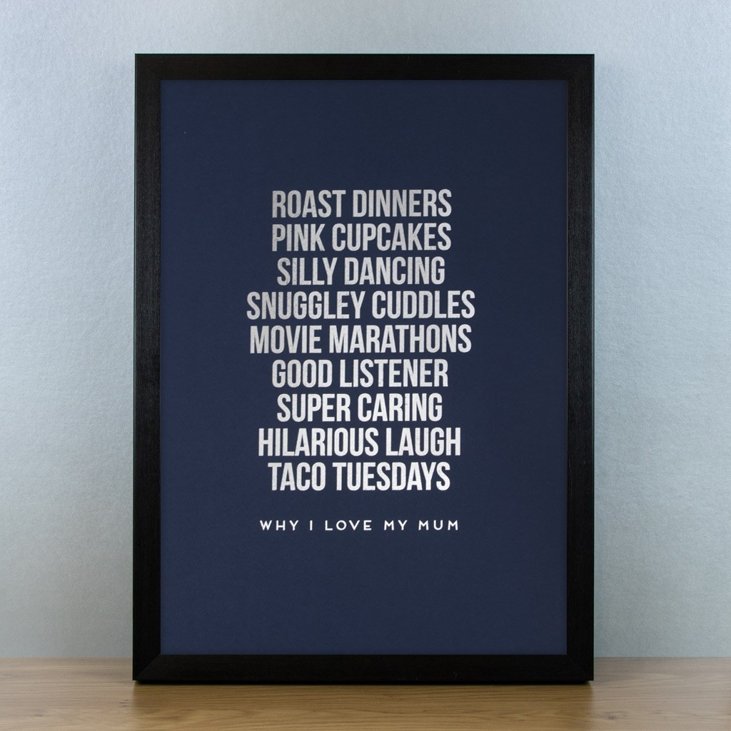 Personalised Foiled Art Print - Why I love...