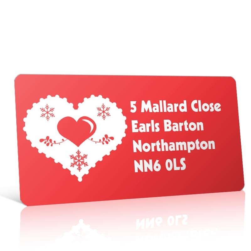 Christmas A4 Sheet Labels - Heart