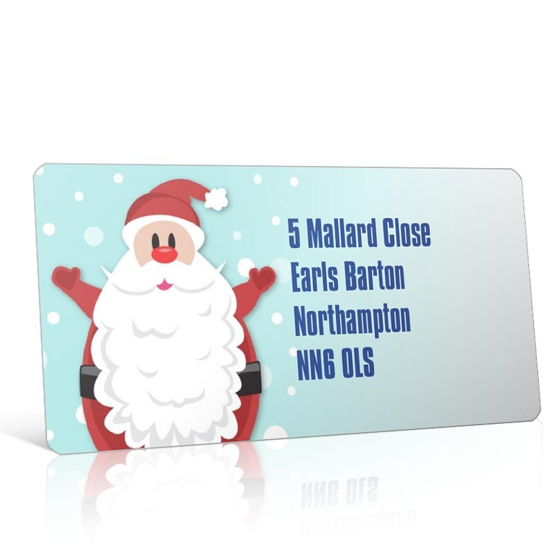 Christmas A4 Sheet Labels - Jolly Santa